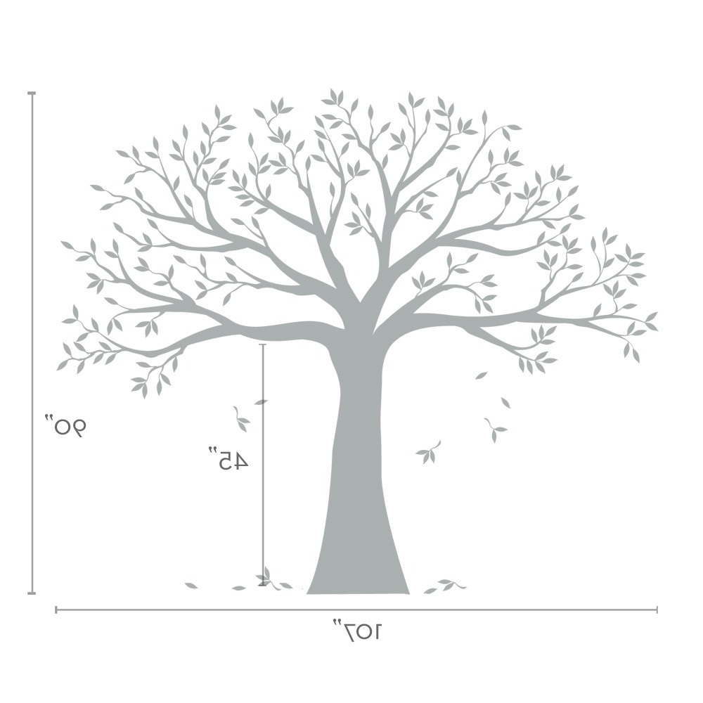 Family Tree Wall Decal – Tree Wall Decal For Picture Frames Throughout Trendy Oak Tree Vinyl Wall Art (View 2 of 15)