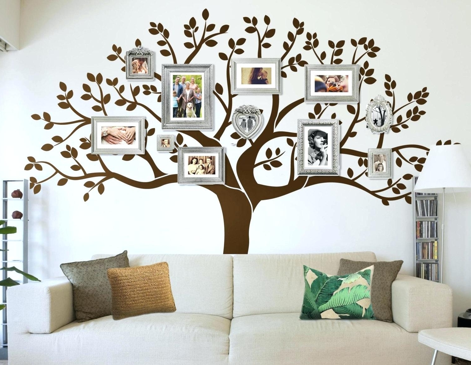 Family Wall Art Decals Simple Design Family Tree Decor For Wall Regarding Latest Family Wall Art Picture Frames (Gallery 10 of 15)
