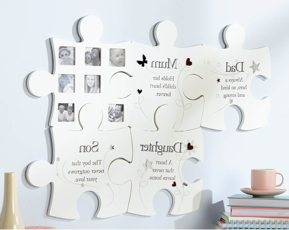 Family Wall Art Picture Frames Within Most Popular Buy The Family Jigsaw Wall Art Photo Frame From K Life (View 13 of 15)