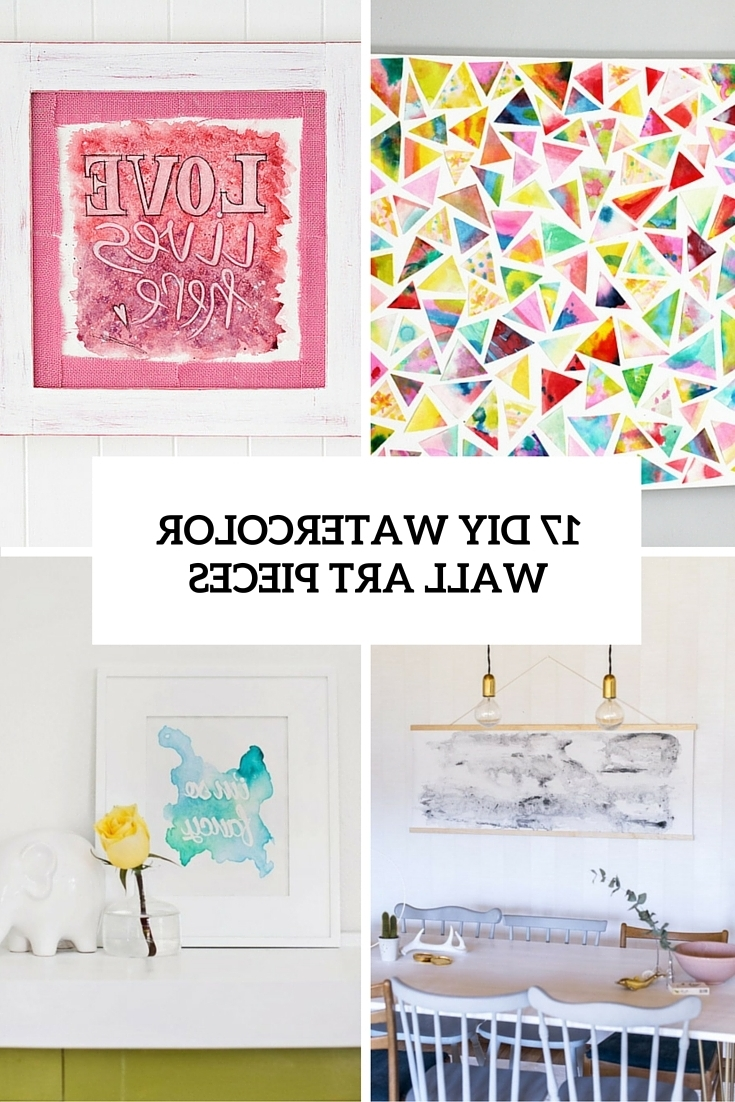 Famous 17 Diy Watercolor Wall Art Pieces To Get Inspired – Shelterness Regarding Diy Watercolor Wall Art (View 6 of 15)