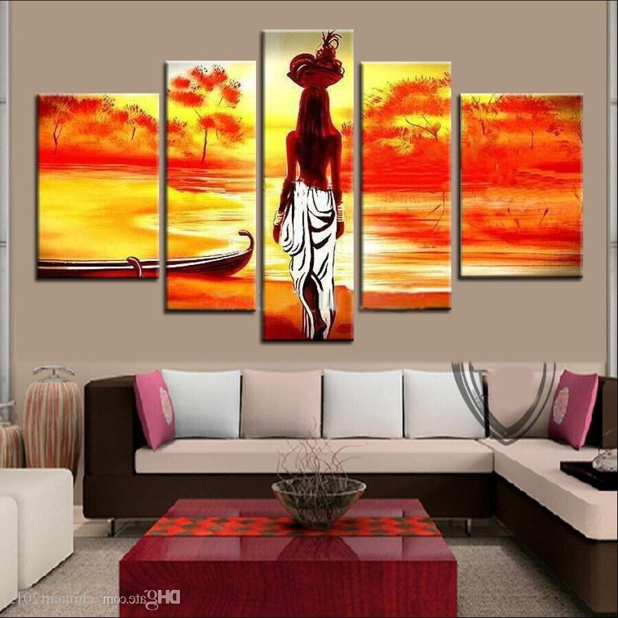Famous 2018 Unframed Hand Painted Abstract Modern Wall Painting African For Abstract African Wall Art (View 6 of 15)