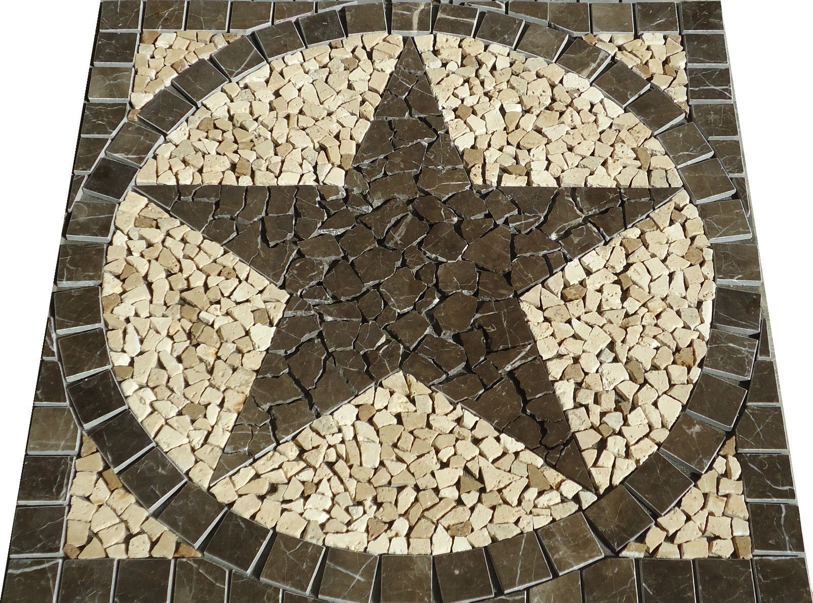 Famous 30 Sq Texas Star Mosaic Marble Medallion Tile Floor Wall Throughout Medallion Tiles Wall Art (View 2 of 15)