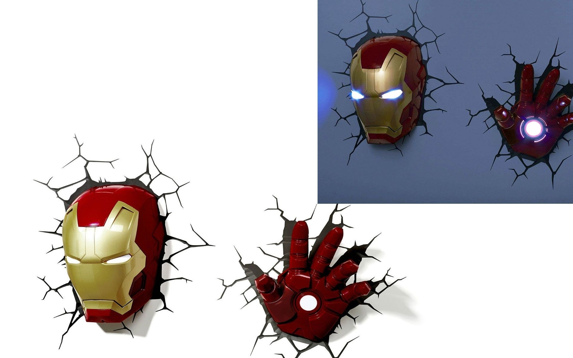 Famous 3D Deco Wall Light Nightlight Iron Man – Best Wallpaper Hd Intended For 3D Wall Art Iron Man Night Light (View 7 of 15)