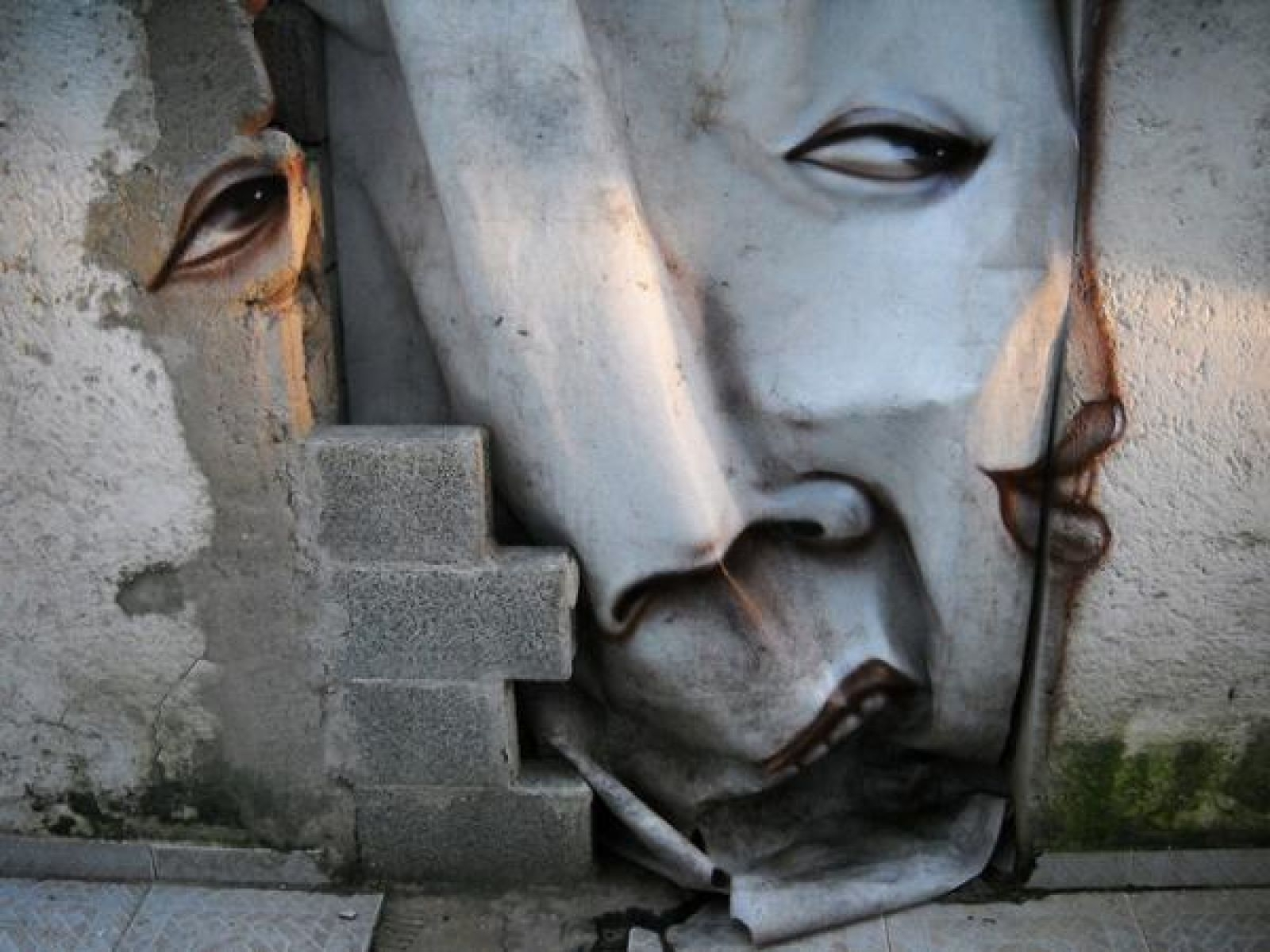 Famous 3D Optical Illusion Using Broken Wall (View 3 of 15)