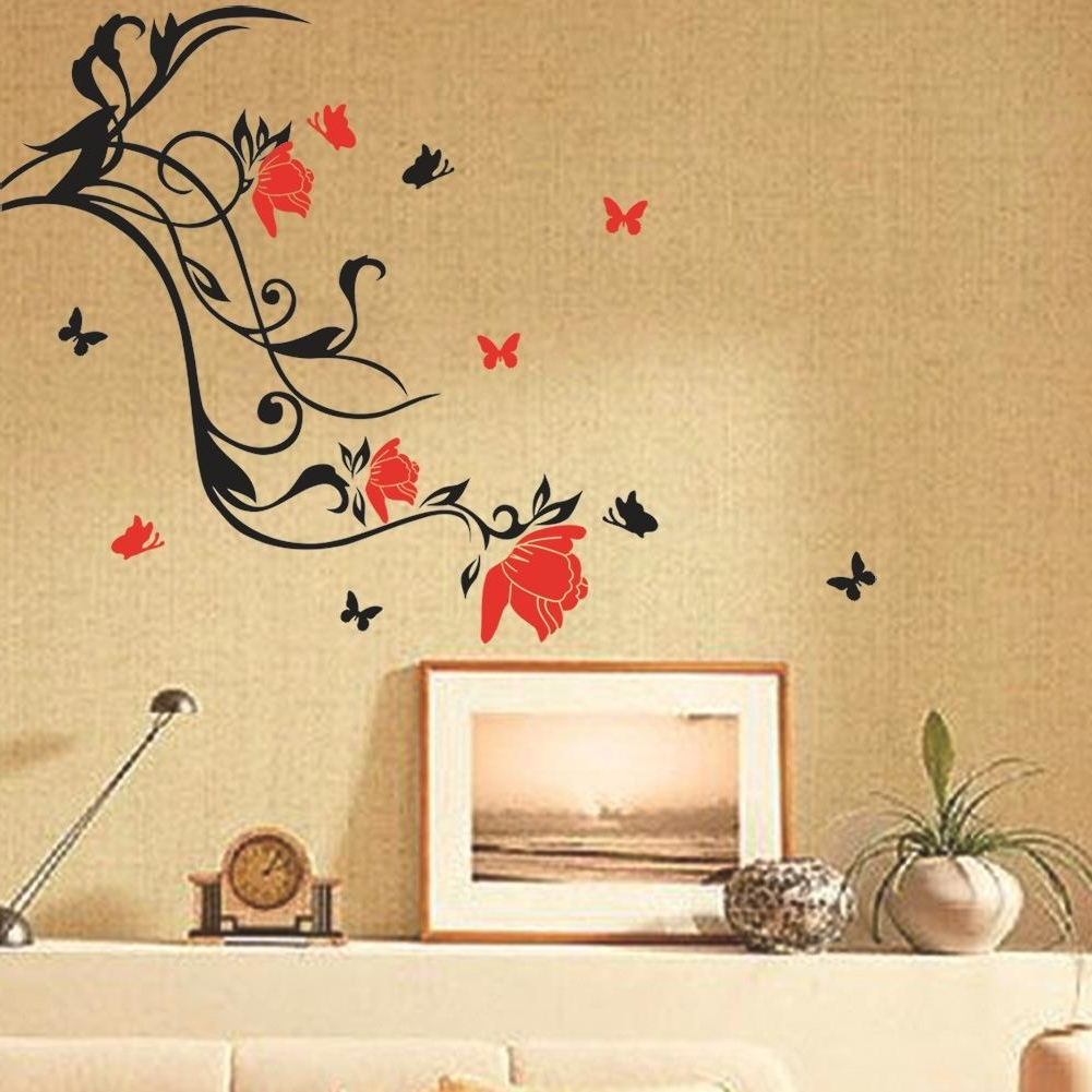 15 Photos 3D Removable Butterfly Wall Art Stickers
