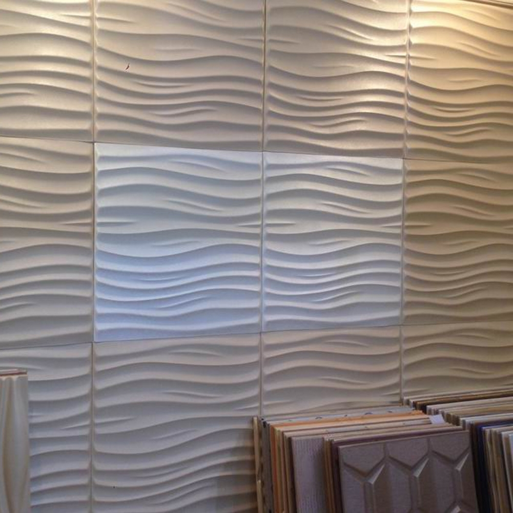 Famous 3d Wall Covering Panels Intended For Leather 3d Textured Wall Covering Pu Material Panels Wave Wall (View 9 of 15)