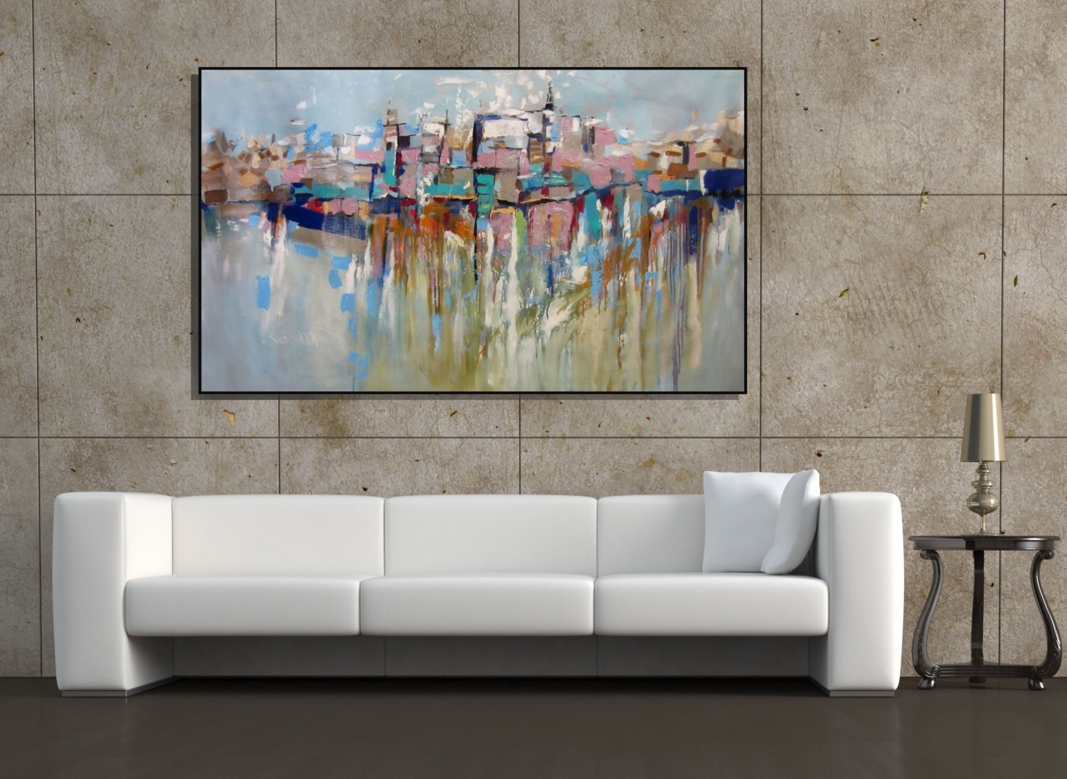 Oversized Wall Art Ideas: 15 Best Large Framed Abstract Wall Art
