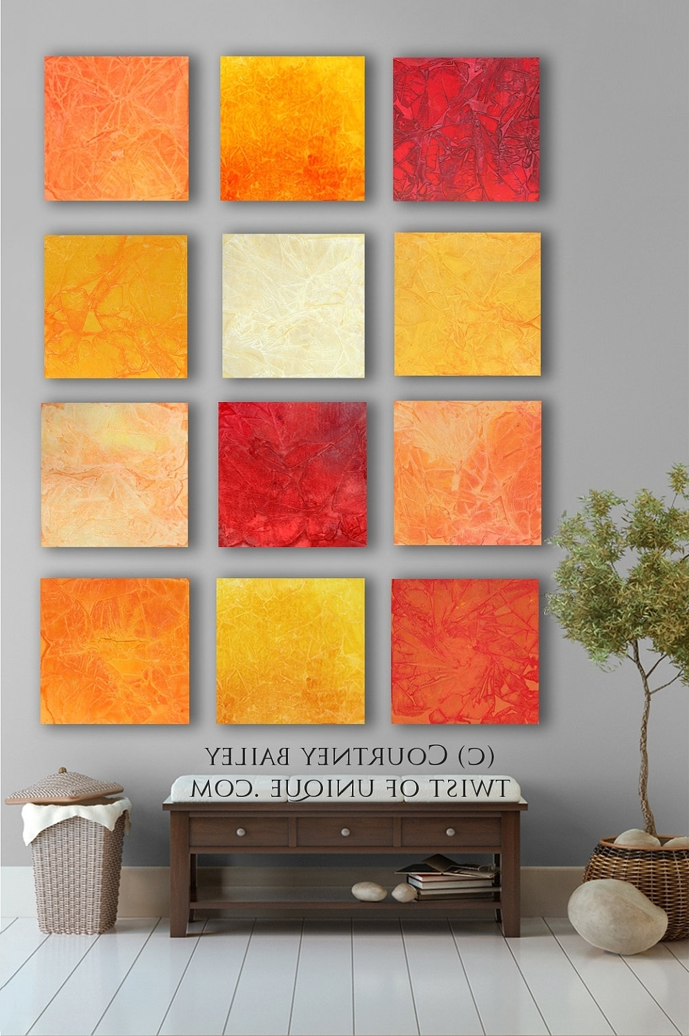 Famous Abstract Orange Wall Art In Bold Custom Abstract Painting, 12 Square Modern Abstract Wall Art (View 7 of 15)