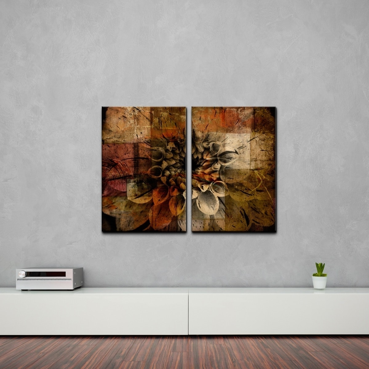 Famous Abstract Oversized Canvas Wall Art Inside Ready2Hangart 'daisy' Multi Panel Oversized Abstract Canvas Wall (View 7 of 15)