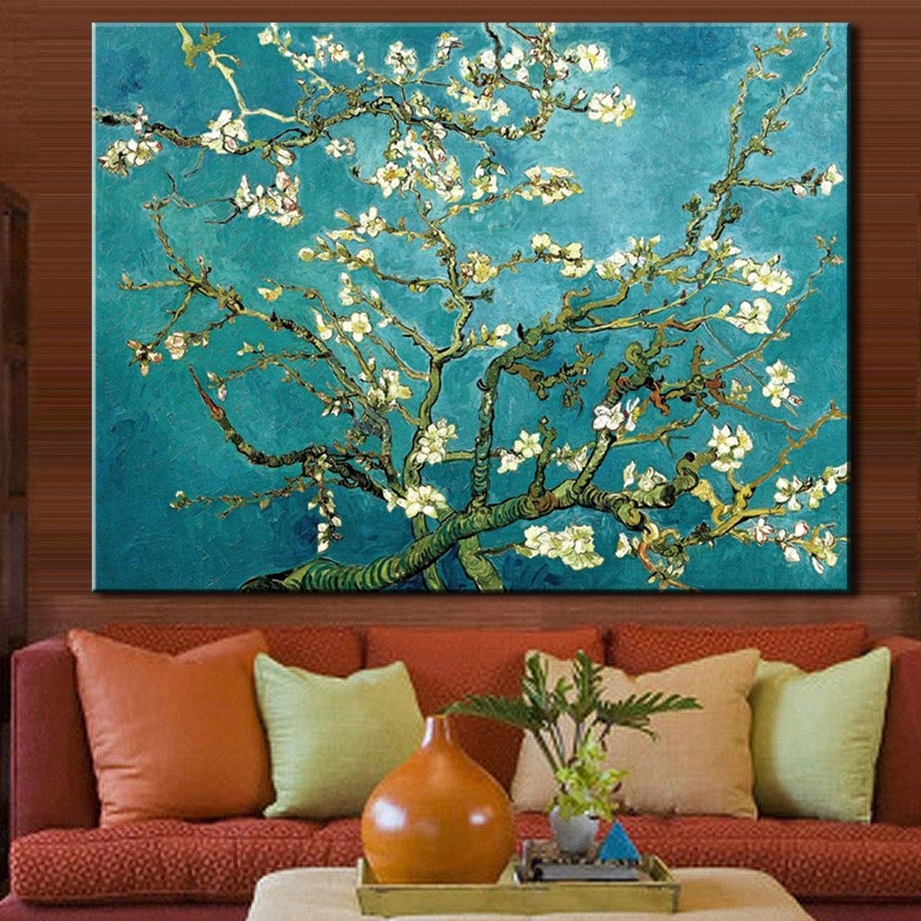 Famous Almond Blossoms Vincent Van Gogh Wall Art Pertaining To 1 Pcs/set The Almond Blossom Huge Picture Abstract Flower Oil (View 11 of 15)