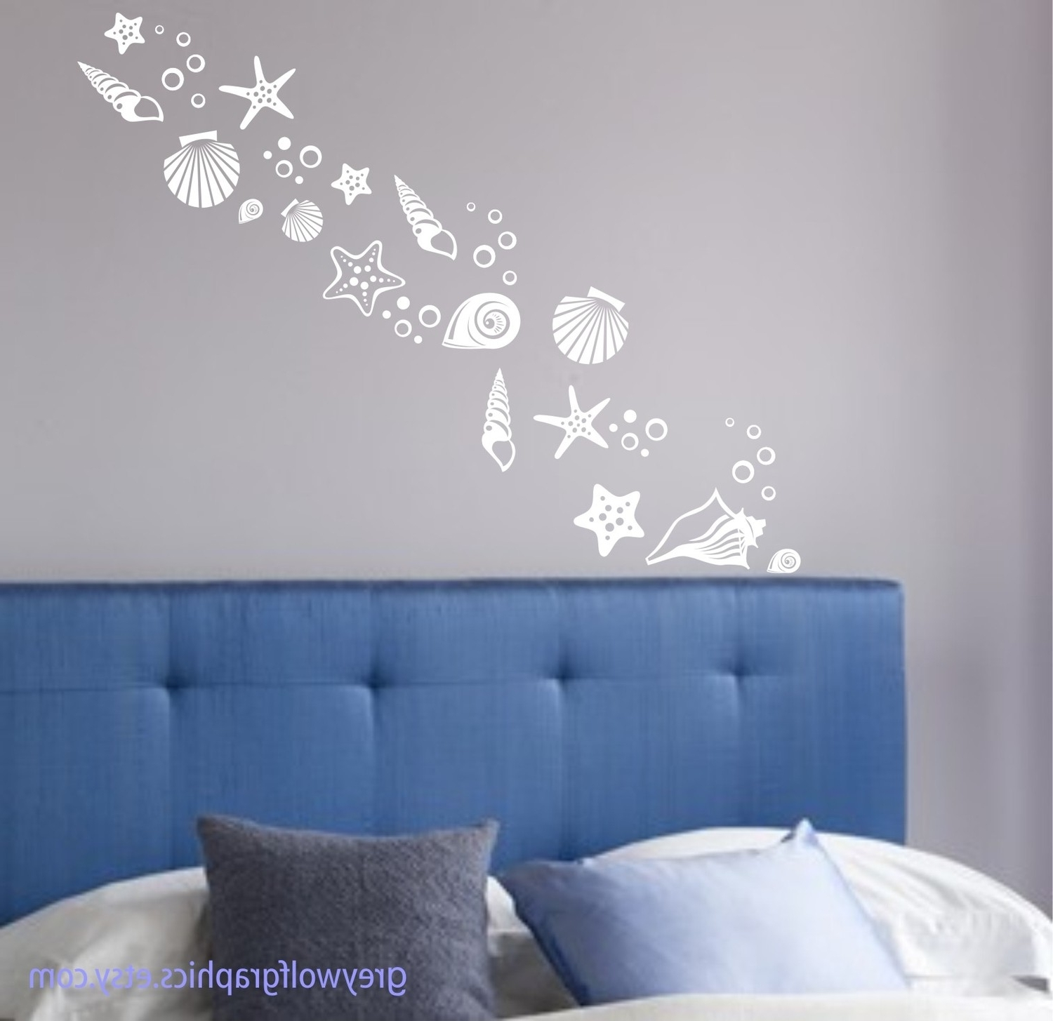 Famous Beach Theme Wall Art Intended For Beach Shells Wall Decals Set Of Over 30 Various Shell Designs Sea (View 7 of 15)