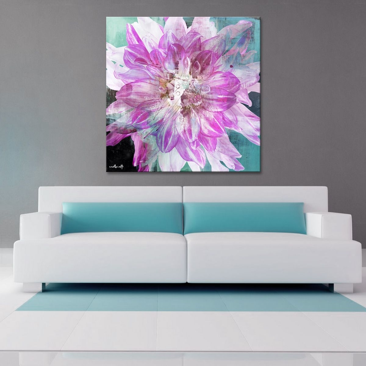 Famous Bold Abstract Wall Art Pertaining To The 'painted Petals Xxx' Canvas Art Print Depicts A Bold Floral (View 11 of 15)