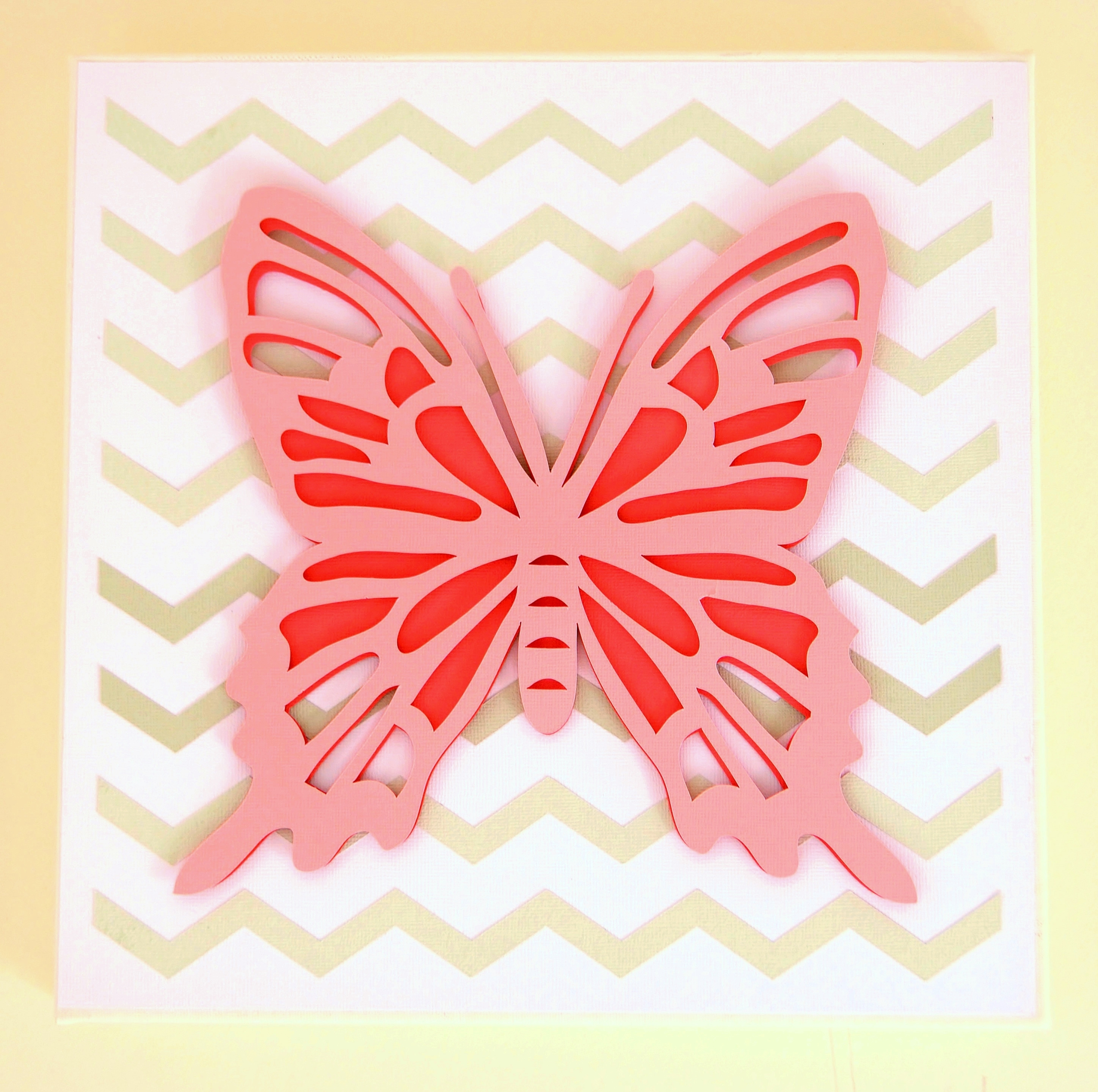 Famous Butterfly 3D Paper Wall Art Canvas, 30Cm X 30Cm, For A Baby Or Within Girls Canvas Wall Art (View 1 of 15)