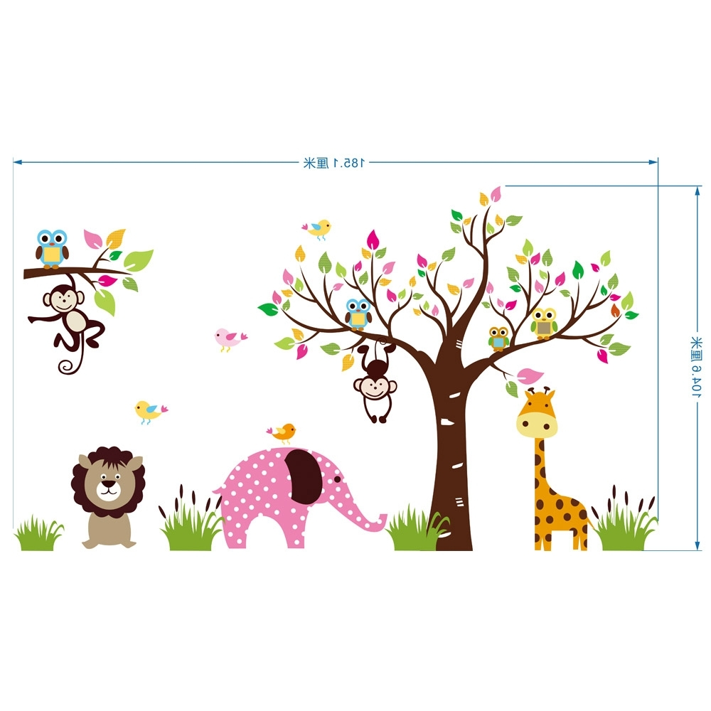 Famous Children Wall Art Intended For Extra Large Animals Paradise Wall Art Mural Poster Children's Park (View 15 of 15)