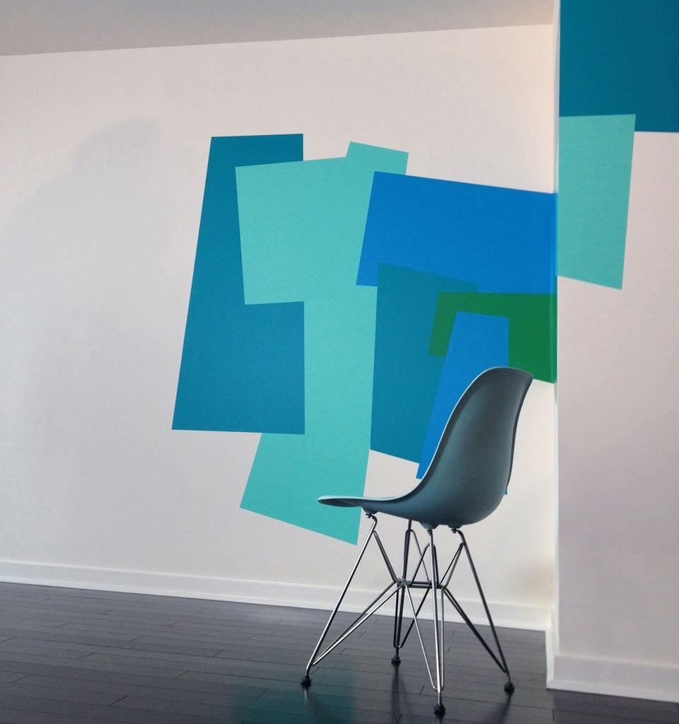 Famous Color Blocking Wall Decalsmina Javid For Blik – Design Milk Regarding Blik Wall Art (View 10 of 15)