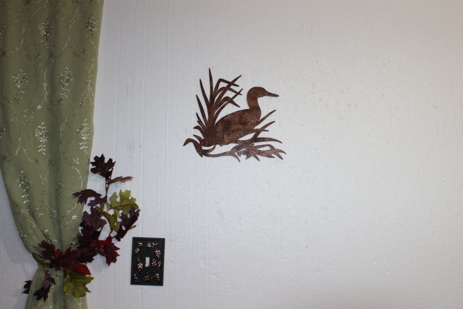 Famous Country Metal Wall Art In Hand Made Duck In Reeds On Sawblade Metal Wall Art Country Rustic (View 2 of 15)