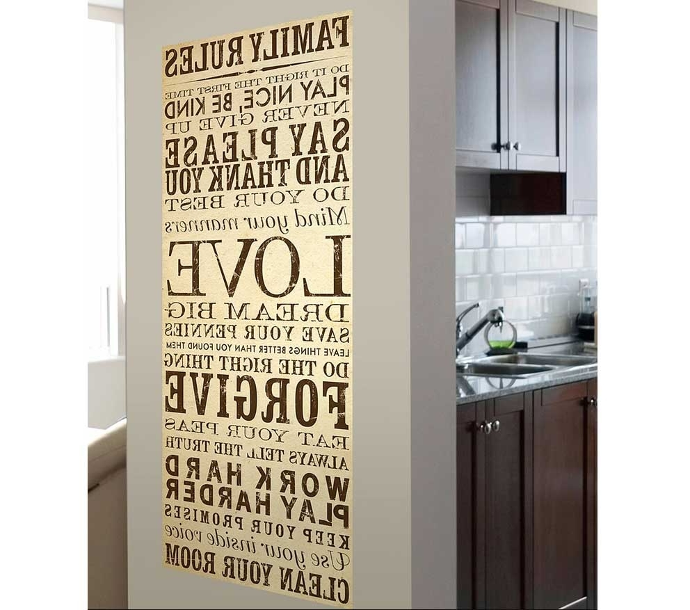 Famous Family Rules Canvas Wall Art Ideas (View 8 of 15)