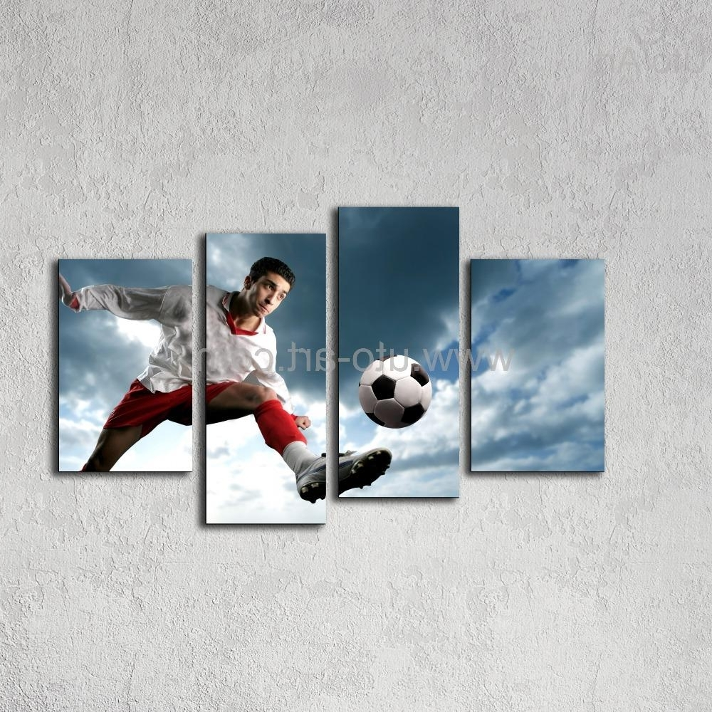 Famous Football 3D Wall Art Regarding Soccer Oil Painting On Canvas Football 3D Printed Oil Portrait (View 6 of 15)