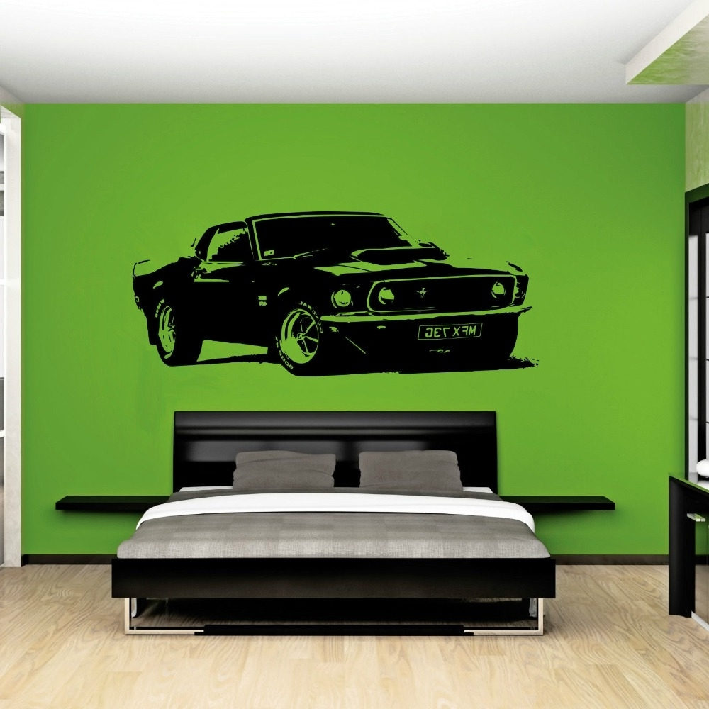 Famous Ford Mustang Metal Wall Art Pertaining To Ford Mustang Home Decor. Startonight Huge Canvas & View Gallery of Ford Mustang Metal Wall Art (Showing 13 of 15 Photos)
