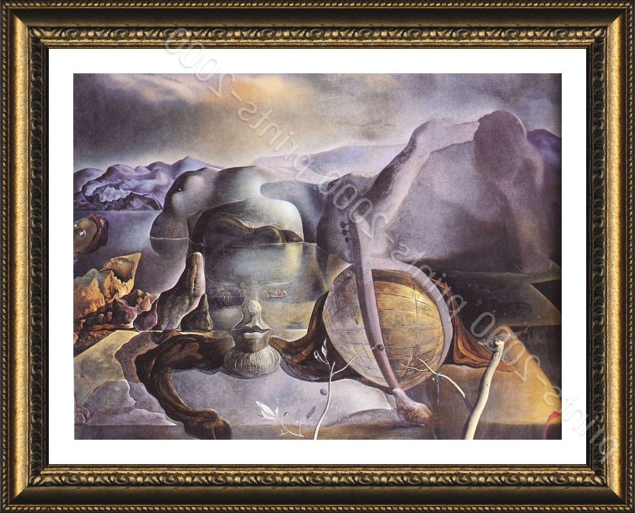Famous Framed Poster The Endless Enigma Face Salvador Dali Wall Art Inside Salvador Dali Wall Art (View 3 of 15)