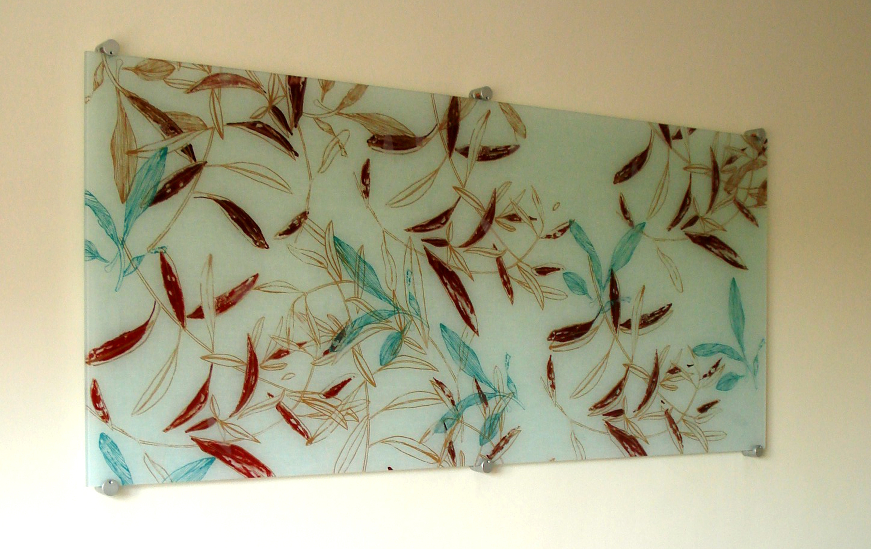 Famous Fused Glass Textile Panels » Michèle Oberdieck – Printed Textile For Large Fused Glass Wall Art (View 3 of 15)