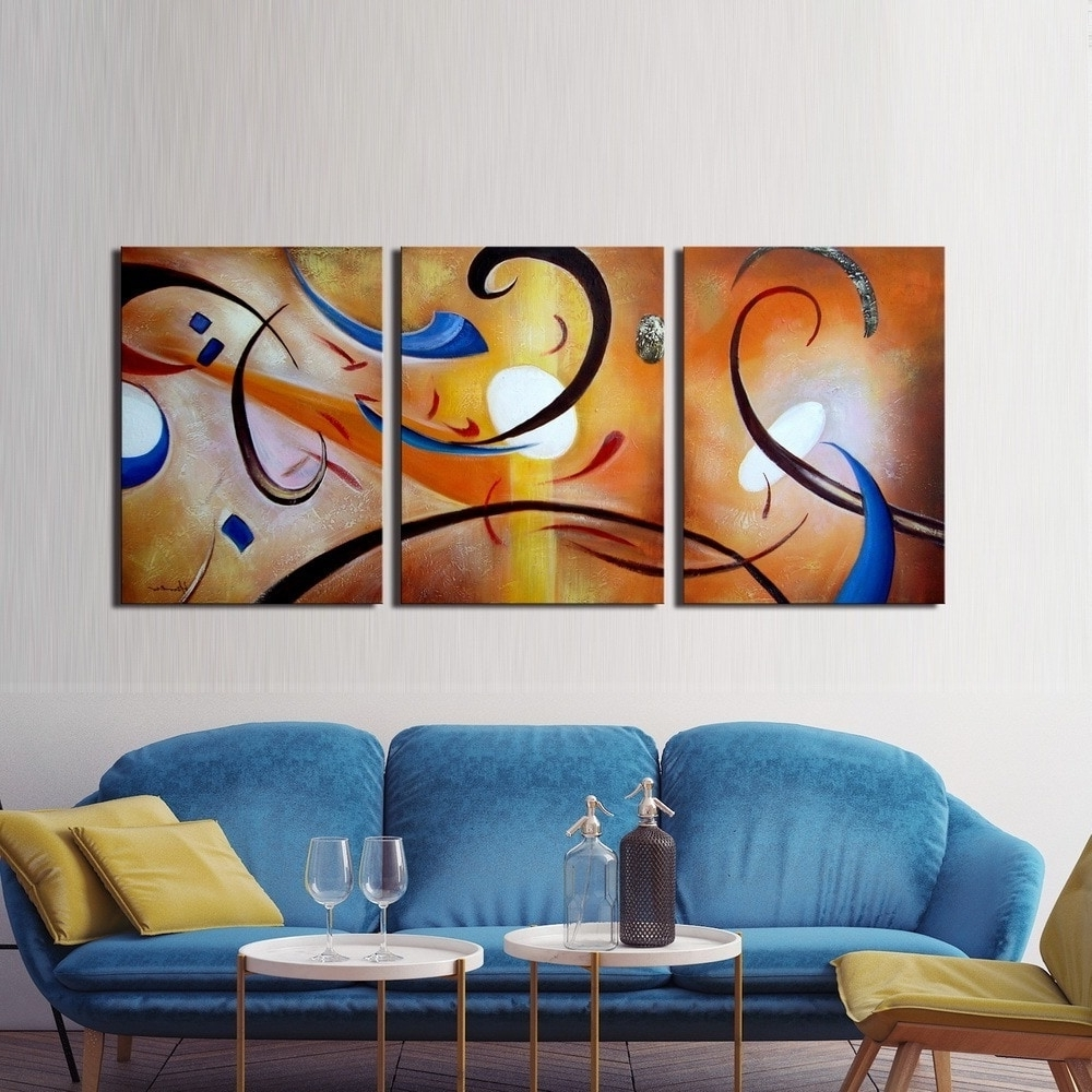 Famous Happiness Abstract Wall Art Intended For Clay Alder Home Happiness Abstract' Hand Painted Gallery Wrapped (View 6 of 15)
