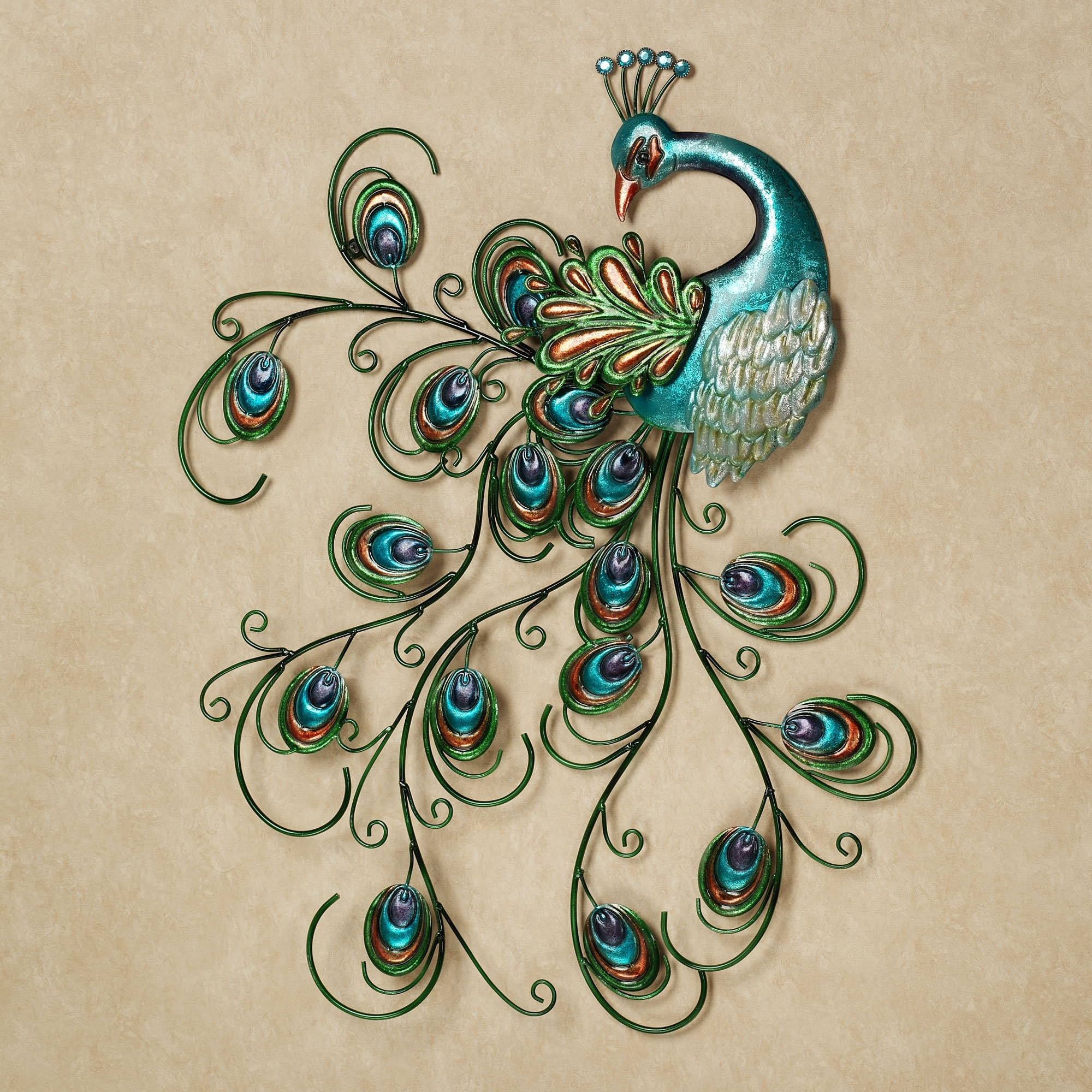 Famous Jeweled Metal Wall Art For Pretty Peacock Indoor Outdoor Metal Wall Art (View 3 of 15)