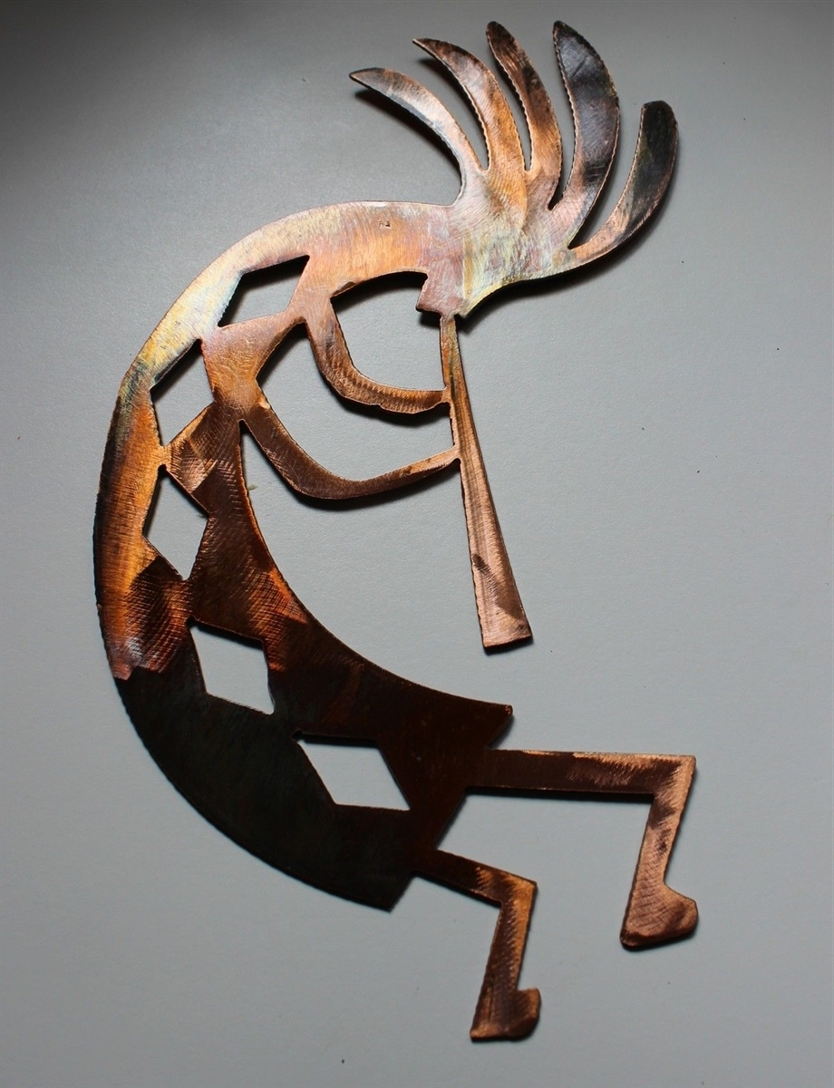 "Famous Kokopelli Metal Wall Art Within Arizona Kokopelli Metal Wall Art Decor Style 4 (17"") (View 4 of 15)"