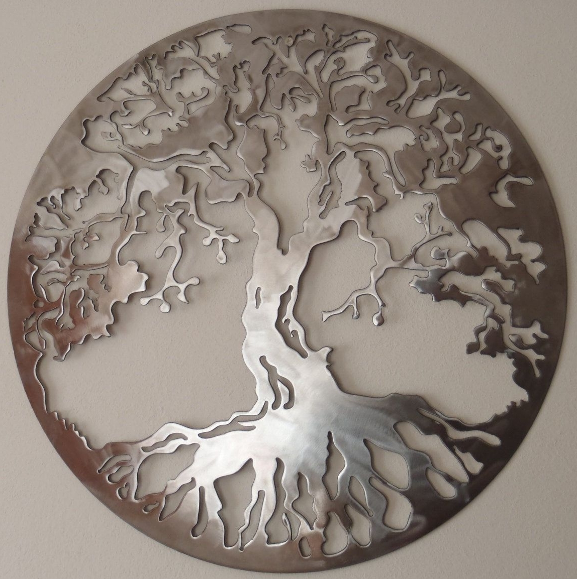 Famous Large Metal Art With Tree Of Life, Large Wall Decor, Metal Art. $37.00, Via Etsy (View 2 of 15)