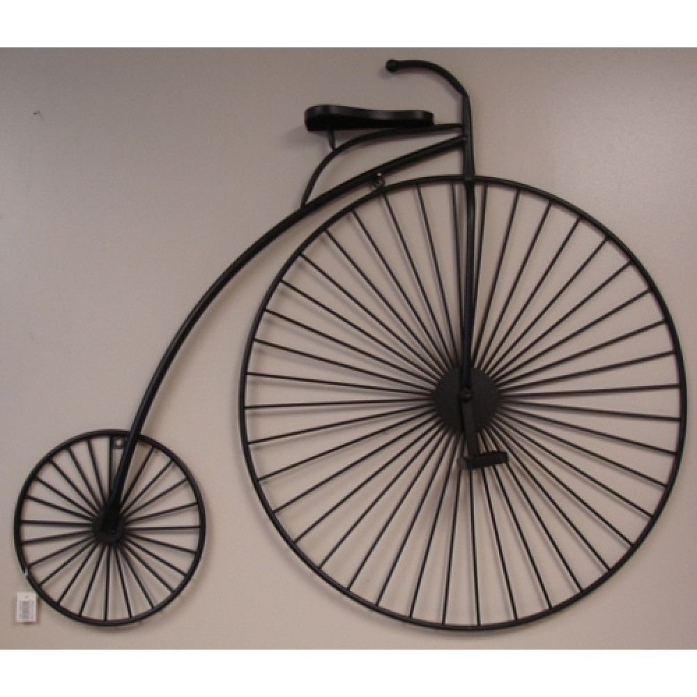 Famous Metal Wall Art – Penny Farthing Black – 112Cm For Bicycle Metal Wall Art (View 5 of 15)