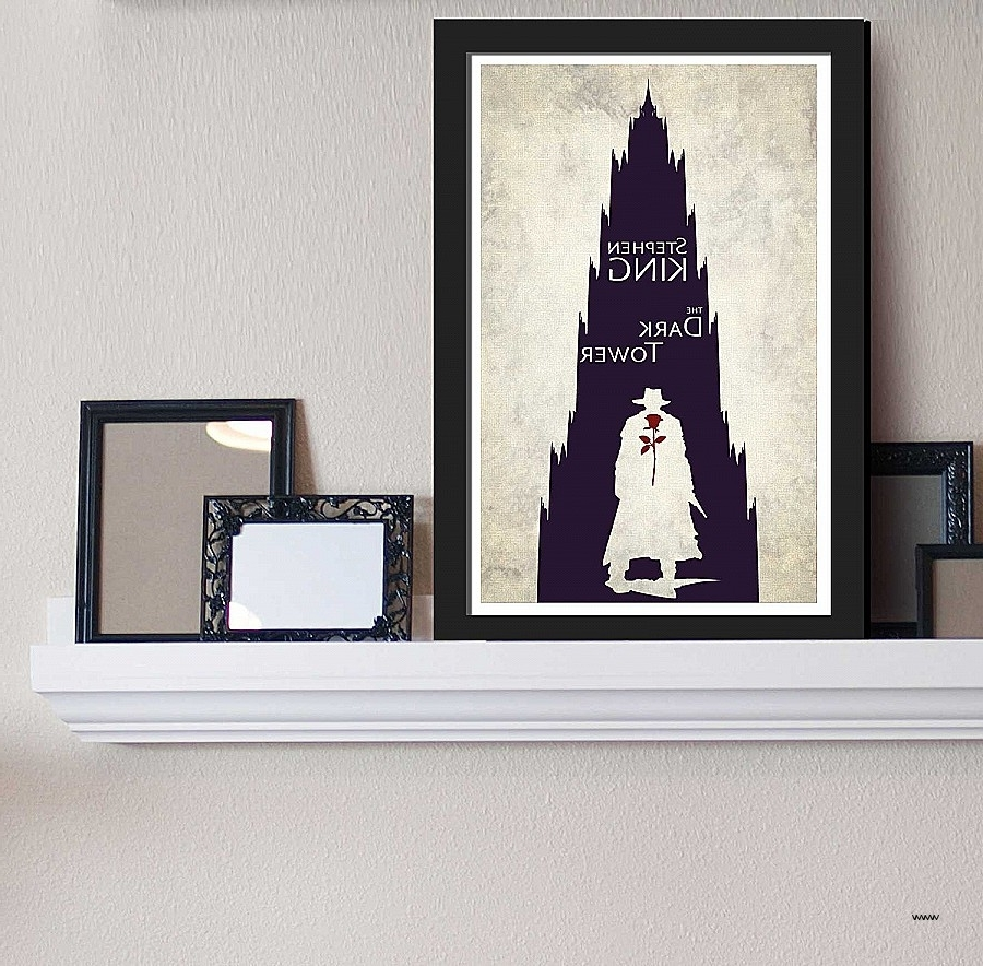 Famous Movie Themed Wall Art For Movie Themed Wall Art Awesome The Dark Tower Stephen King Inspired (View 14 of 15)