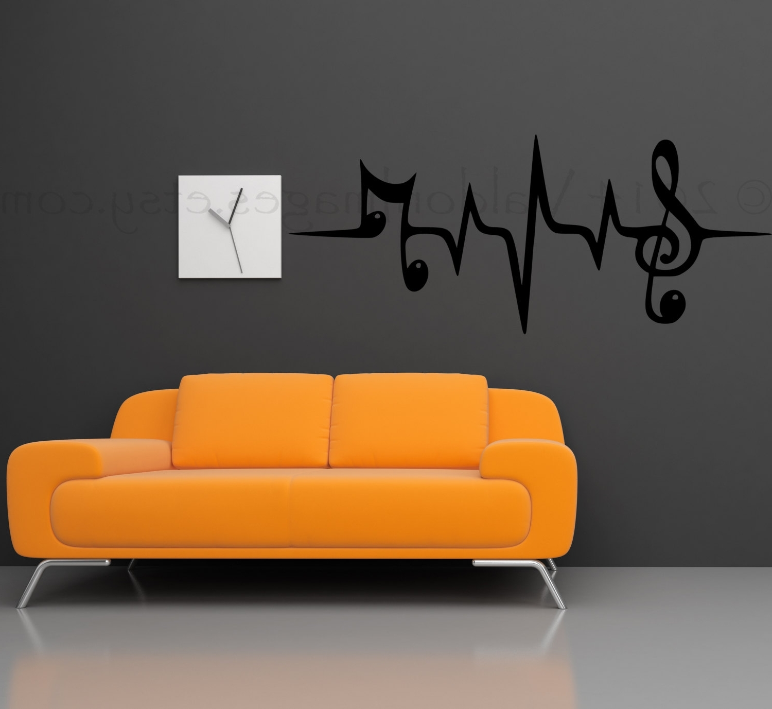 Famous Music Note Wall Decal Music Wall Decal Heartbeat Wall (View 3 of 15)