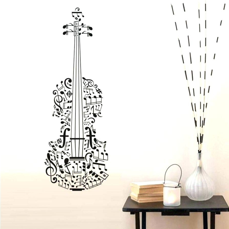 Famous Musical Notes Wall Decals Removable Vinyl Wall Art Decals Stickers Within Music Themed Wall Art (View 6 of 15)