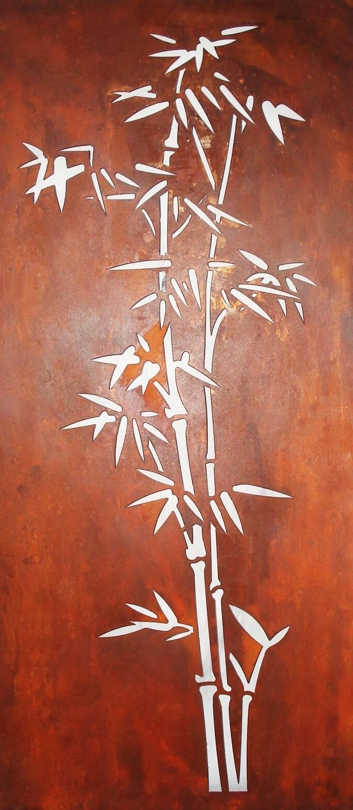 Famous Outdoor Wall Sculpture & Screens :: Laser Cut Steel Wall Art Within Bamboo Metal Wall Art (View 8 of 15)