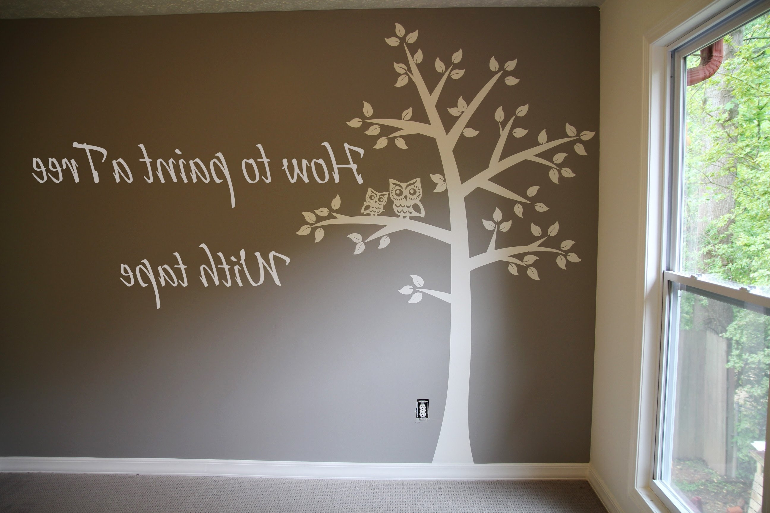 Famous Painted Trees Wall Art With Regard To How To Paint Tree On Wall 4 Baby Room (View 5 of 15)