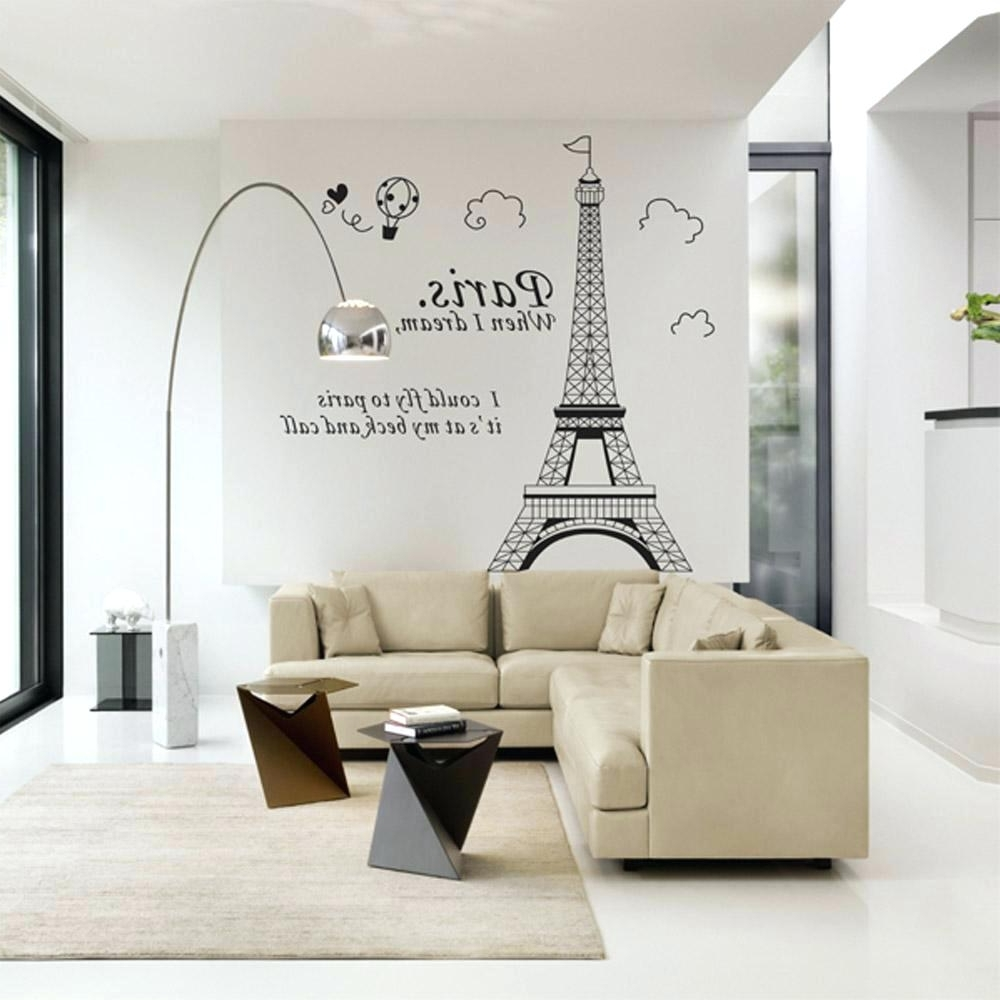 Famous Parisian Wall Art Inside Parisian Wall Decals Romantic Tower Beautiful View Of Wall (View 2 of 15)