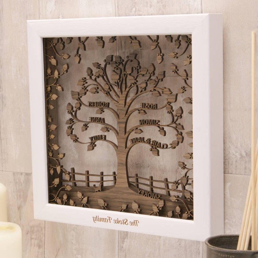 Famous Personalised Wooden 3D Family Tree Wall Arturban Twist Throughout 3D Visual Wall Art (View 6 of 15)