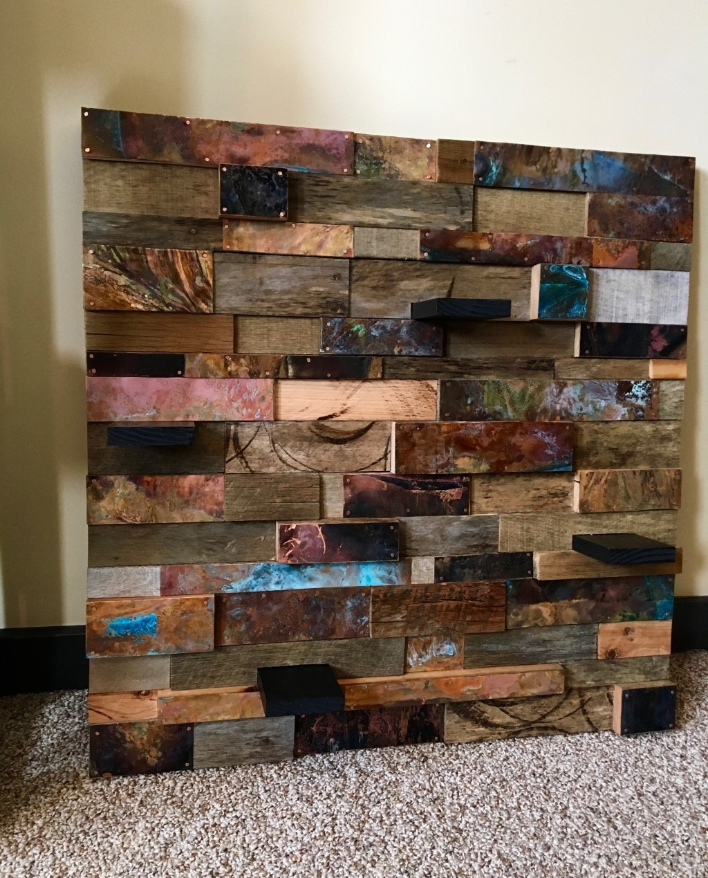 Famous Reclaimed Wood & Copper Wall Art Regarding Copper Wall Art Home Decor (View 6 of 15)