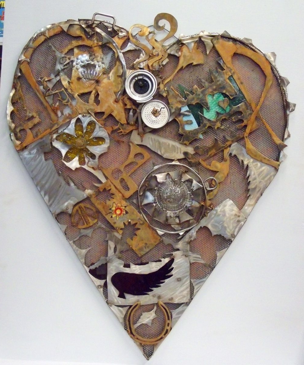 Famous Recycled Wall Art With Handmade Home Decor, Sign, Recycled Art, Heart Wall Artjunk A (View 2 of 15)