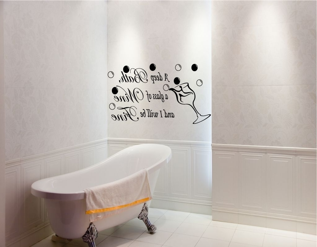 Famous Shower Room Wall Art With Bathroom Paintings Art (View 6 of 15)