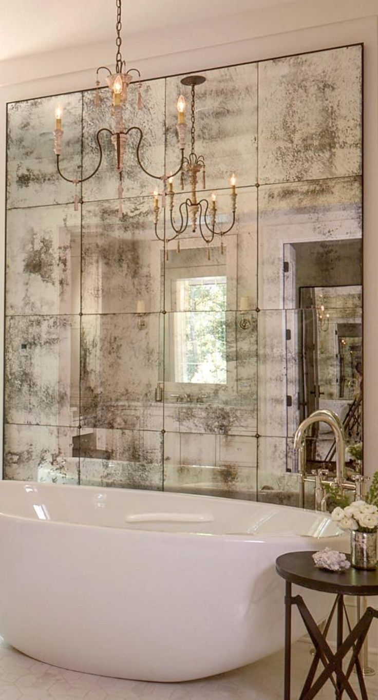 Famous Sometimes An Artfully Faded Mirror Is All That Is Necessary To With Italian Wall Art For Bathroom (View 4 of 15)