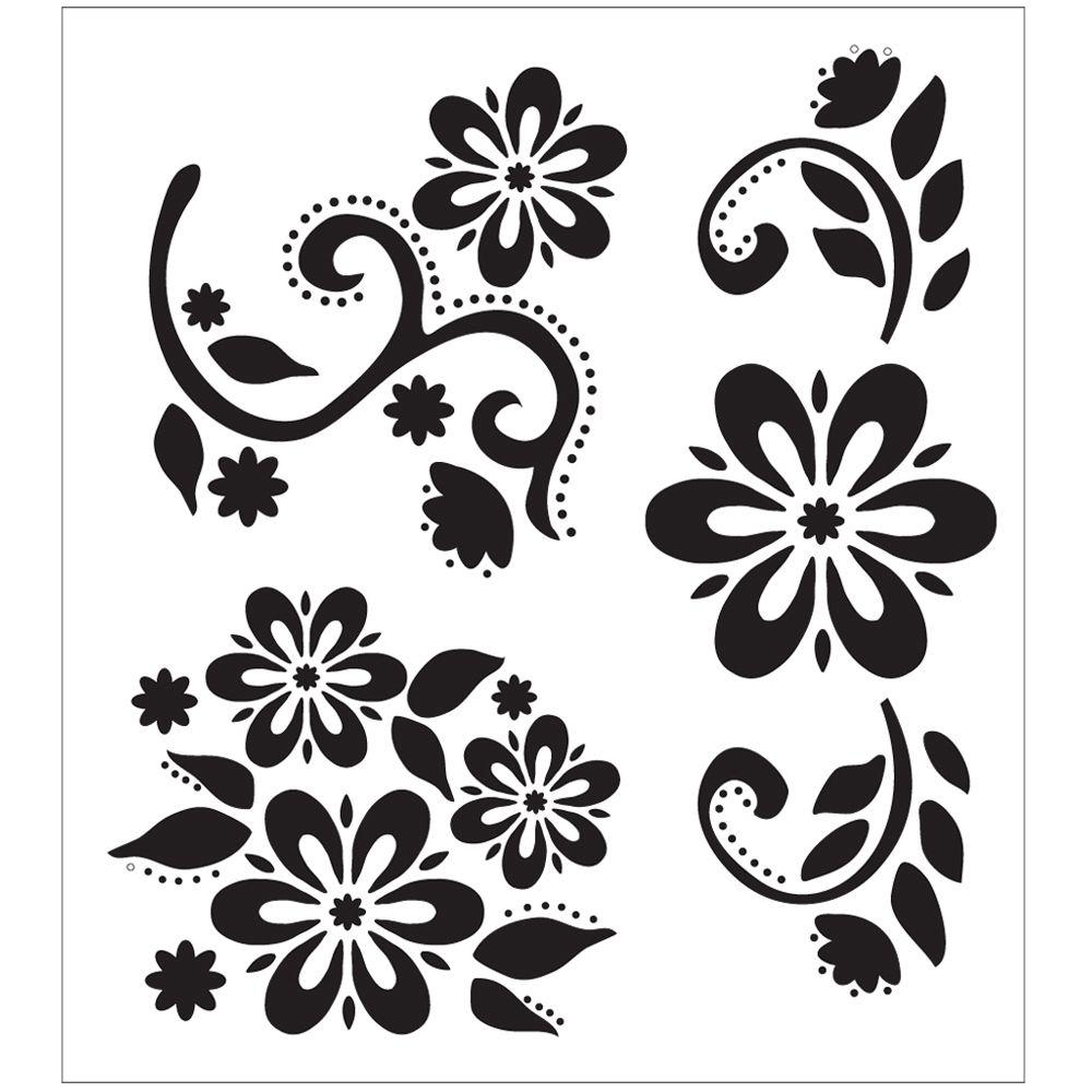 Famous Space Stencils For Walls Inside Stencils – Craft & Art Supplies – The Home Depot (View 5 of 15)
