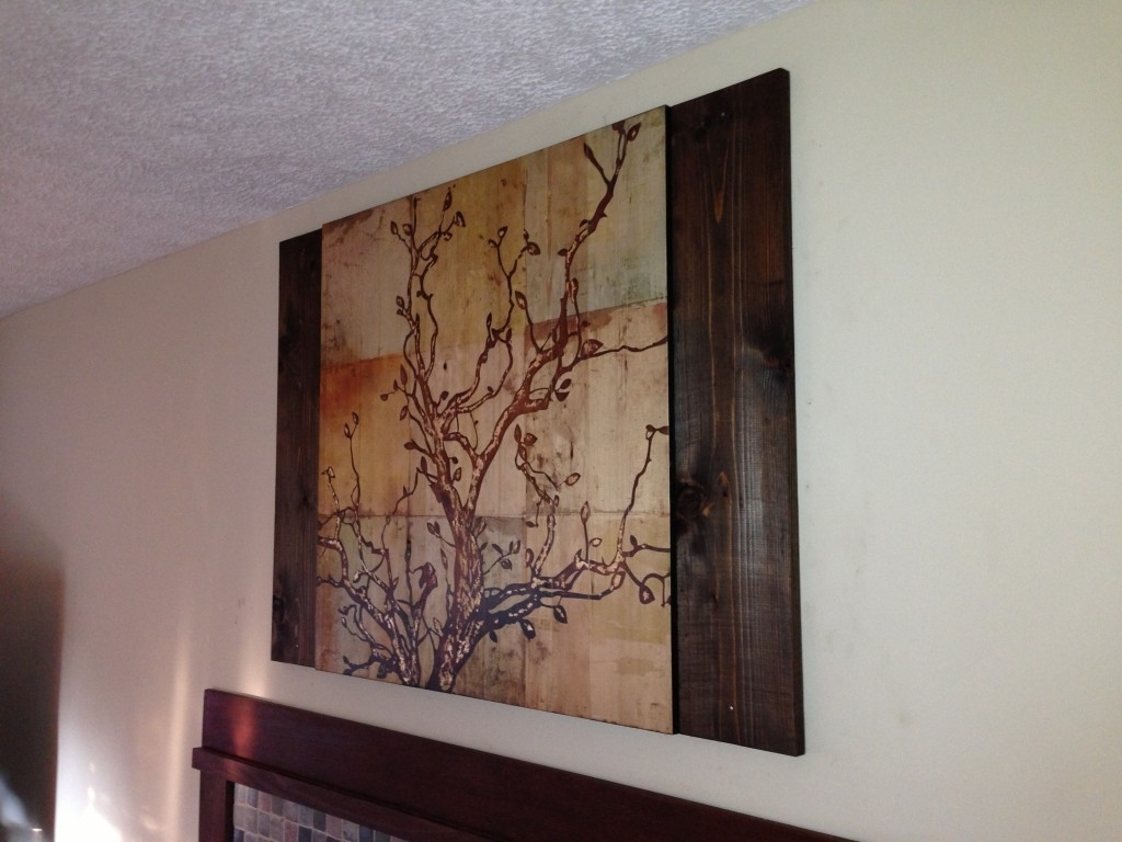 Famous Stained Wood Wall Art Intended For Using Stained Wood To Complement Wall Art – Coreyms (View 6 of 15)