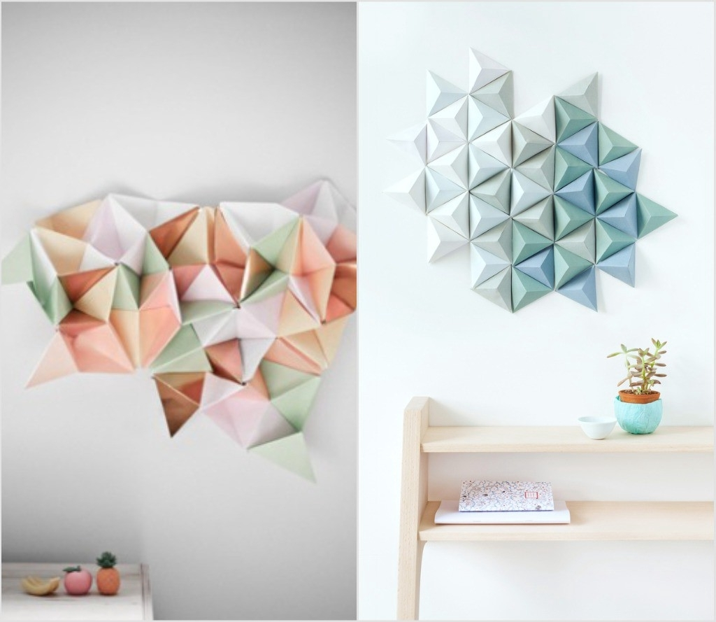 Famous The Contemporary Diy Wall Art Guide: – Lorelai Vano – Medium Within Diy Origami Wall Art (View 6 of 15)
