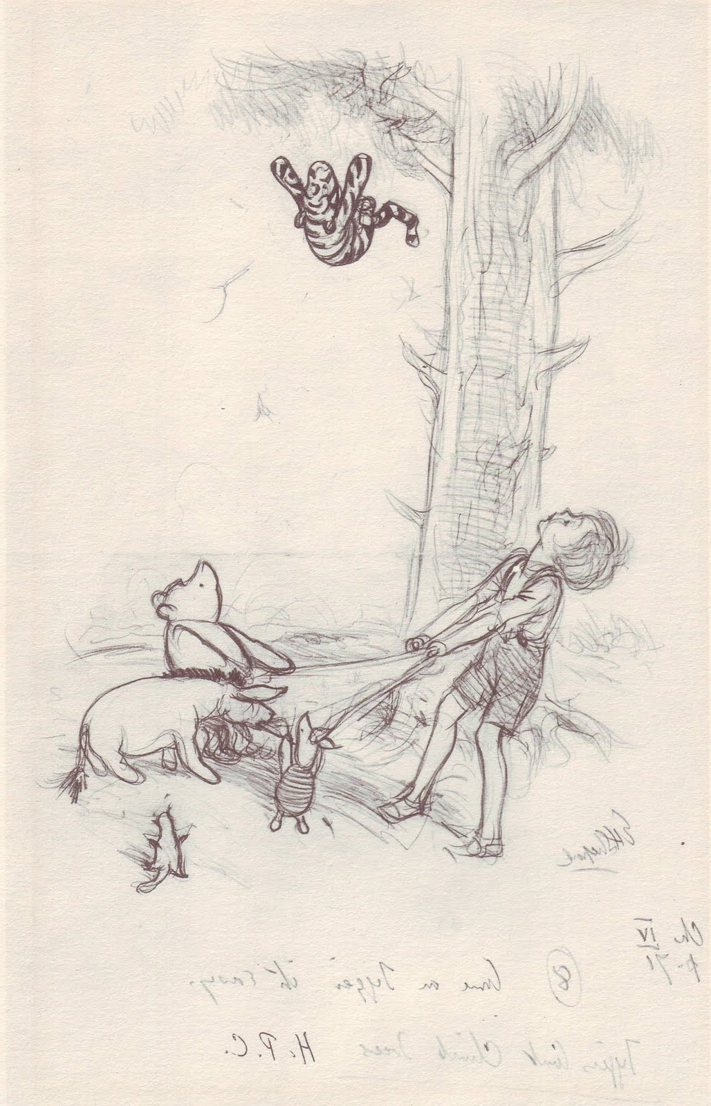 "Famous Tiger's Can't Climb Trees"" Winnie The Poo Illustration, E.h (View 5 of 15)"