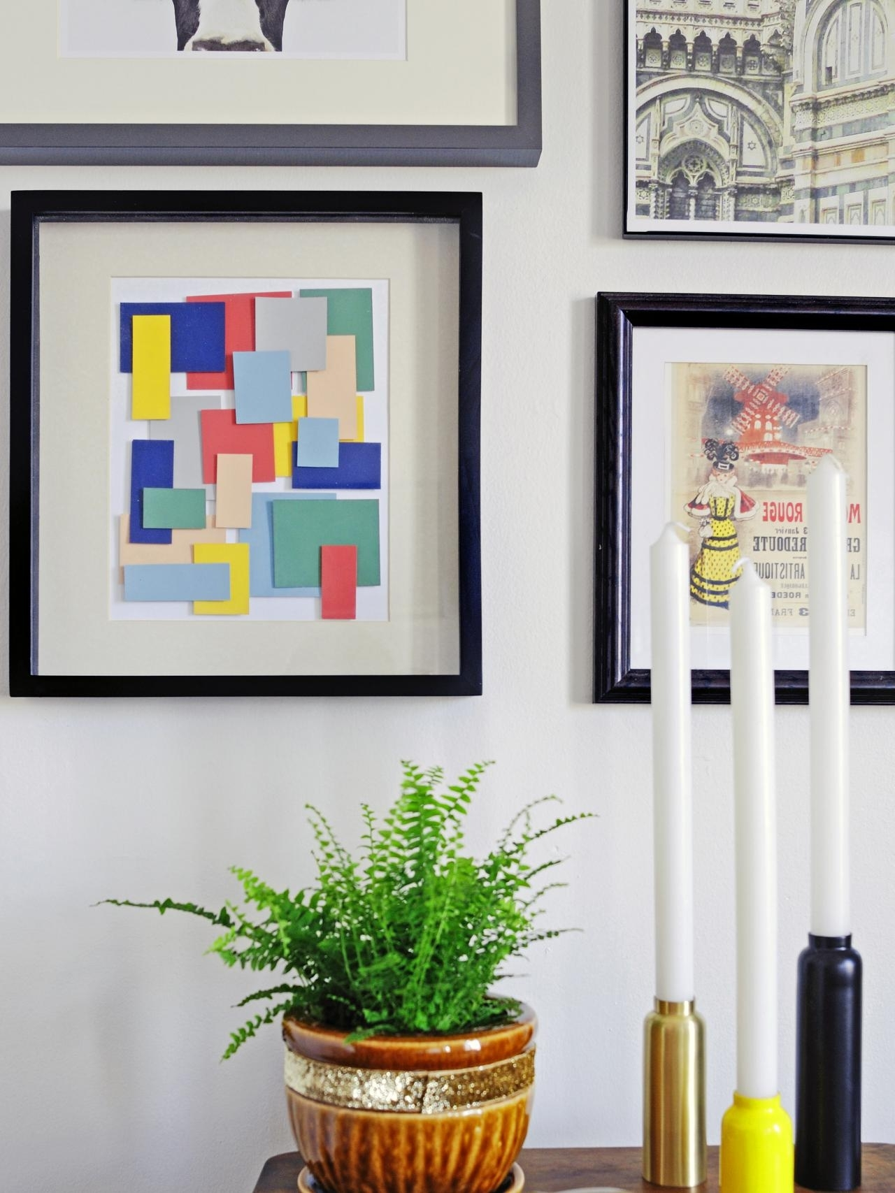 Famous Turn Paint Chips Into Geometric Diy Wall Art (View 6 of 15)