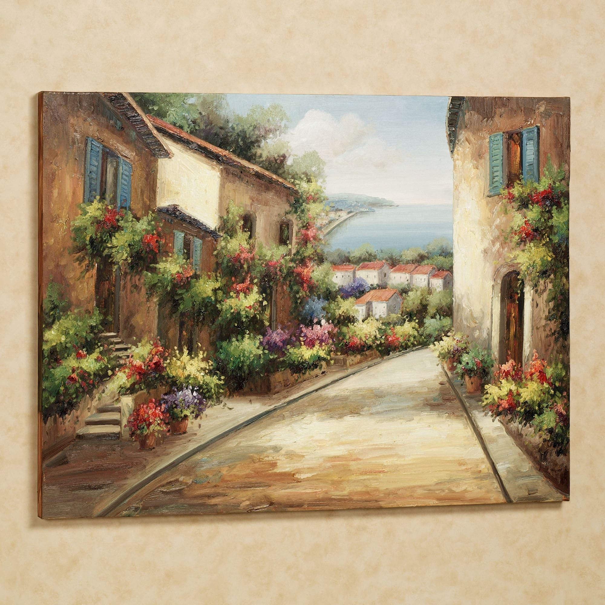 Famous Tuscan Wall Art Decor In Streets Of Tuscany Canvas Wall Art (View 6 of 15)