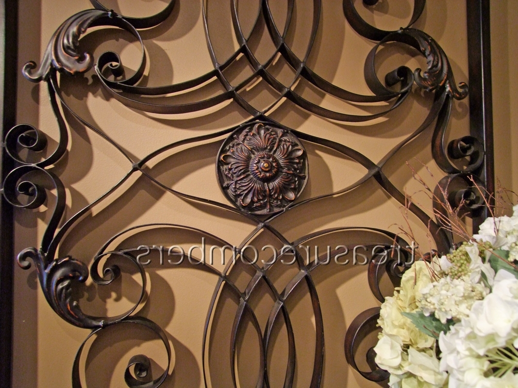 Famous Tuscany Wall Art With Large Forged Metal Wall Grille Tuscan Grill Xl 61 Art Panel (View 1 of 15)
