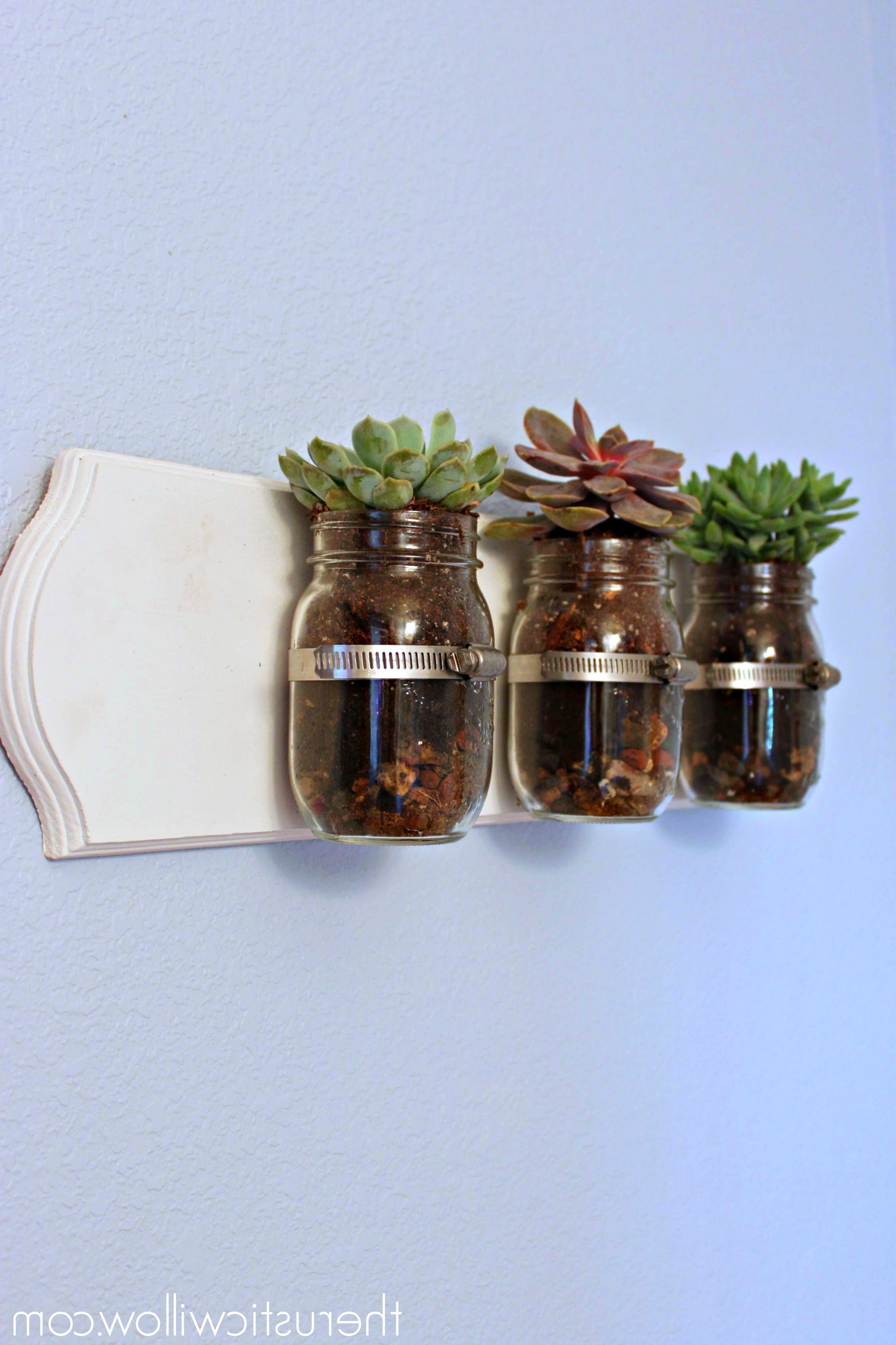 Famous Utensil Wall Art For Succulent Mason Jar Wall Art – The Rustic Willow (View 3 of 15)