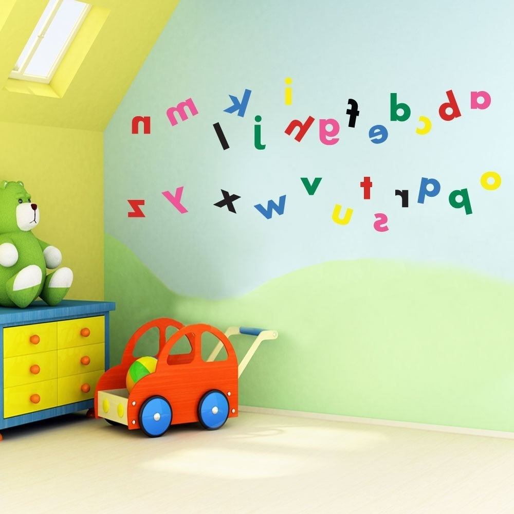 Famous Vinyl Concept – Children's Wall Stickers, Nursery Letters Regarding Children Wall Art (View 7 of 15)